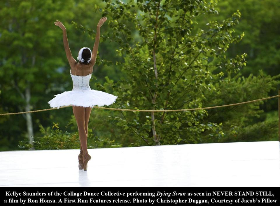 "Kellye Saunders is featured in ""Never Stand Still,'' a film about Jacob's Pillow."