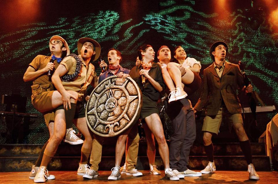 StarKid (from left) includes Joey Richter, Joe Walker, Brian Holden, Jaime Lyn Beatty, Dylan Saunders, Lauren Lopez, and Brian Rosenthal on the Apocalyptour.