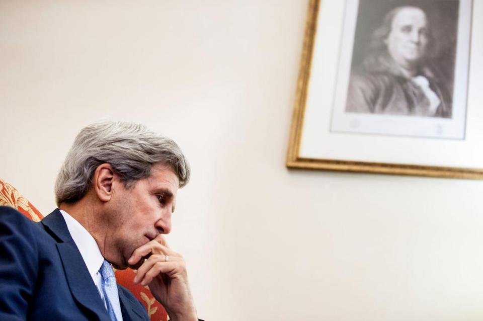 "Senator John F. Kerry defended his work as chairman of the Senate Foreign Relations Committee and the accomplishments of the panel. ""We have issued some very constructive reports,"" he said in an interview."