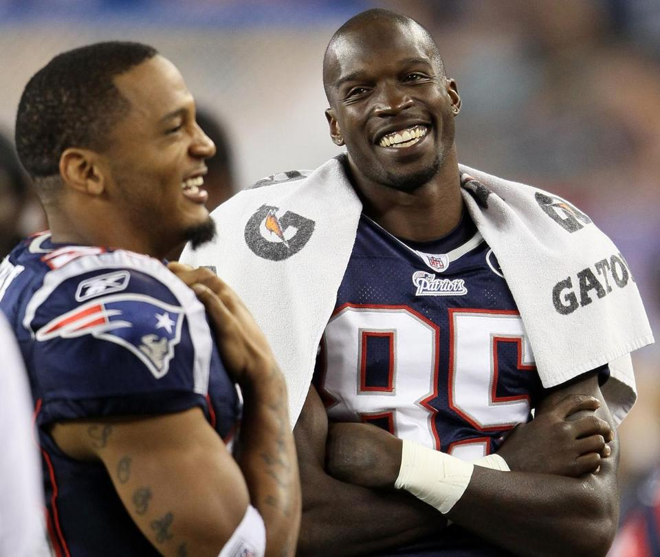 Chad Ochocinco, right, spent only one season with the Patriots.