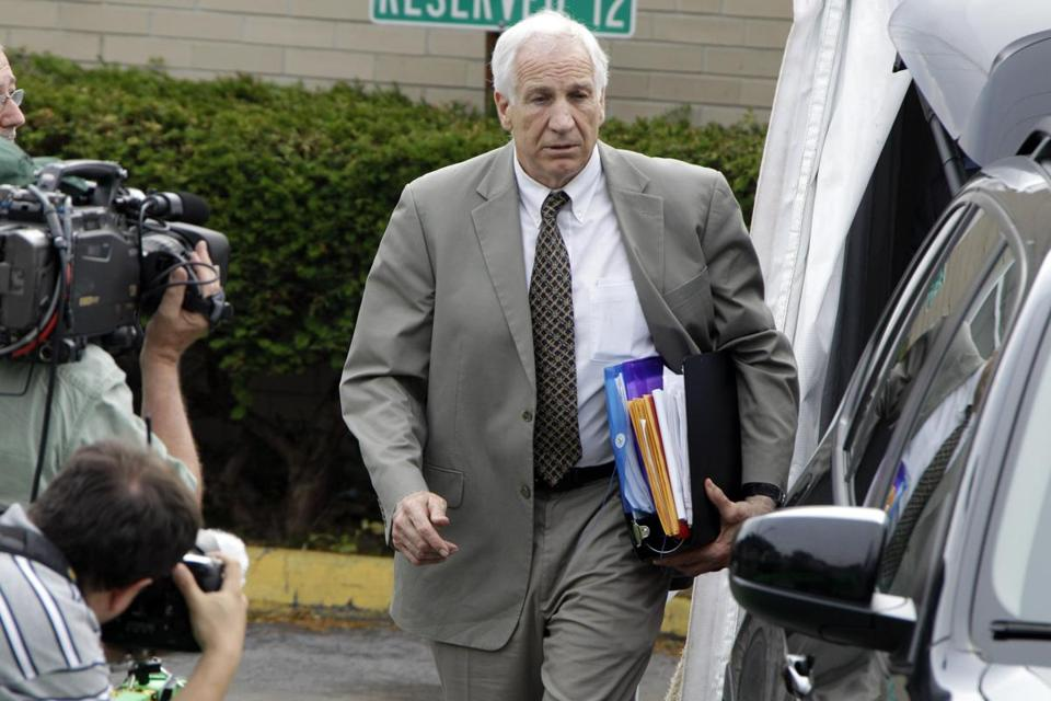 Former Penn State assistant football coach Jerry Sandusky, 68, faces 52 counts that he sexually abused 10 boys over 15 years.