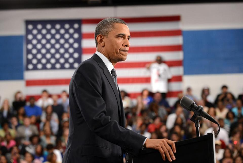 President Obama spoke on the economy at Cuyahoga Community College in Cleveland.