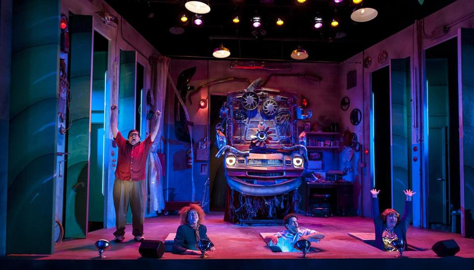 "From left: Scott H. Severance, Maureen Keiller, Diego Klock-Perez, and Leigh Barrett in ""Car Talk: The Musical!!!"""