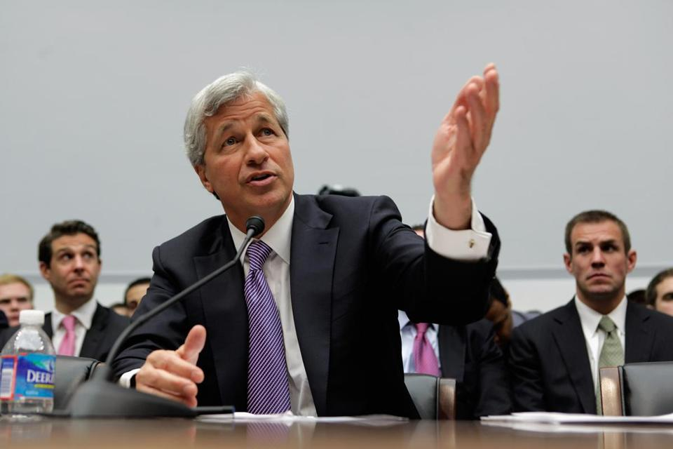 JPMorgan chief executive Jamie Dimon testified before the House Financial Services Committee on Tuesday.
