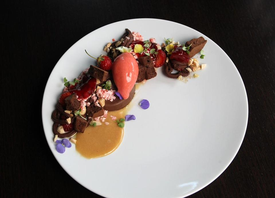 """Variations on Chocolate and Strawberry"" by Deuxave PastrySous Chef Giselle Miller."