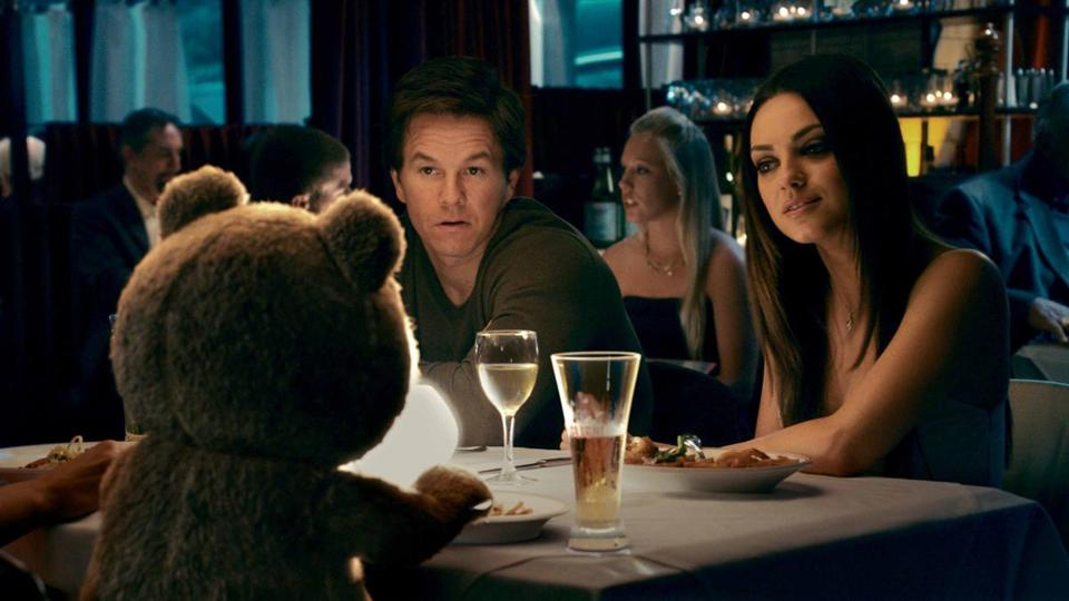 "Mark Wahlberg and Mila Kunis in Seth MacFarlane's ""Ted."""