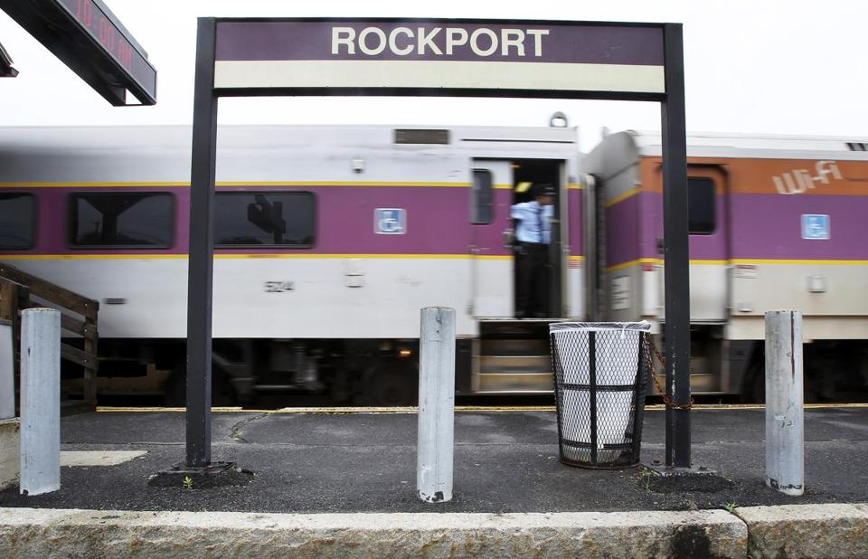 The Rockport train station is one of the stops where there's no place nearby to purchase tickets before boarding trains.