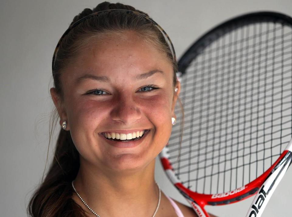 Tennis player Emma Davis, 15, of Cohasset is consistently ranked in the top five for girls 18 and under.