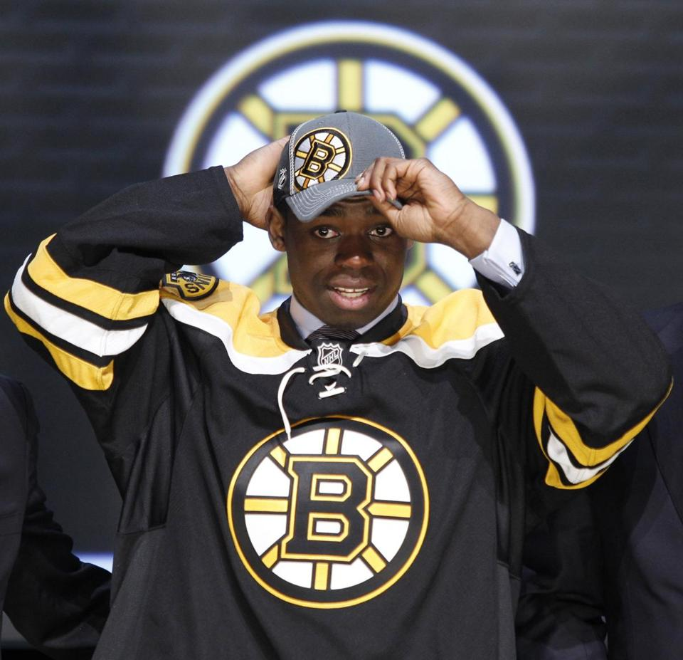 Malcolm Subban was picked by the Bruins in the first round of the NHL Draft.
