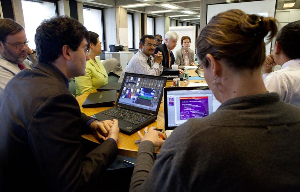 IBM staffers analyzed Boston traffic data then outlined the results at City Hall.
