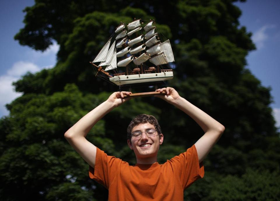 15-year-old Joshua Sander, a junior at Newton South High School, is the winner of Boston's Operation Sail essay competition and will ride on the U.S. Coast Guard tall ship, Eagle, at the start of OpSail Boston on June 30.