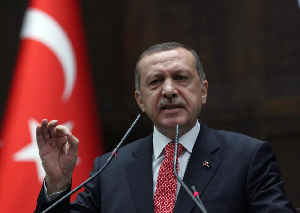 In response to the downing of a Turkish warplane, Prime Minister Recep Tayyip Erdogan of Turkey warned Syrian forces to stay clear of their mutual border or face a military response to any perceived threat.