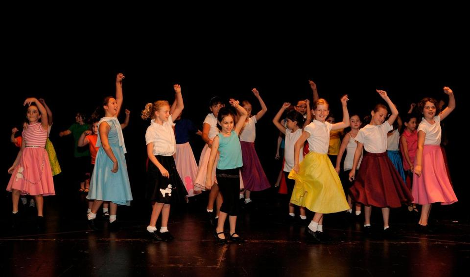"A scene from the production of ""Grease'' that capped the Reagle Music Theatre's Broadway Summer Camp last year."