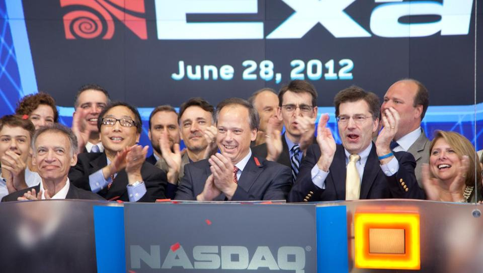 Exa Corp. officials rang the Nasdaq's opening bell on Thursday.