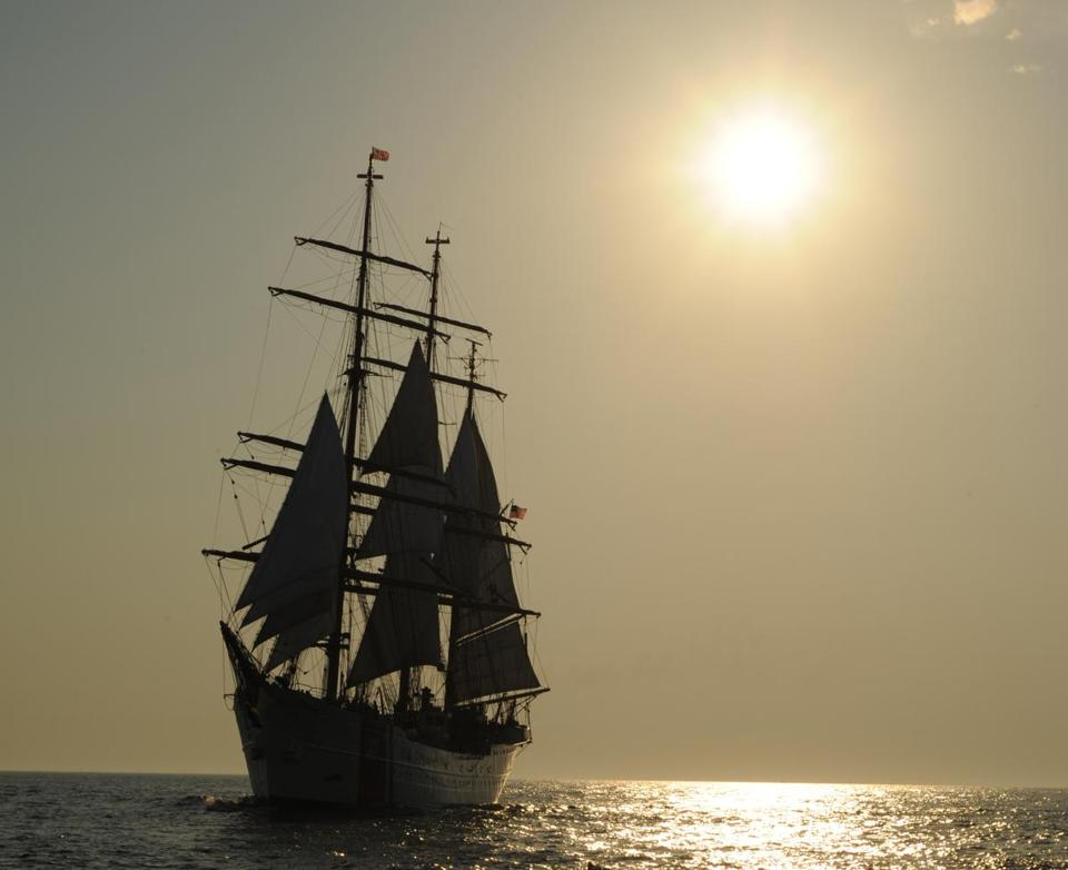 The Coast Guard cutter Eagle, one of the tall ships that will arrive in Boston on Saturday for Operation Sail 2012, is not only a symbol of a nautical past but also a training vessel for future maritime leaders.