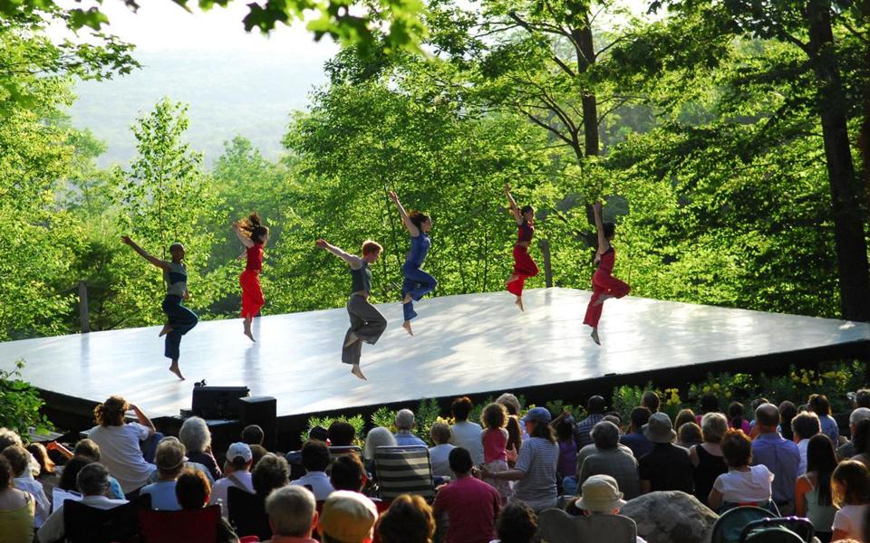 "The Erica Essner Performance Co-Op performs at Jacob's Pillow in a scene from ""Never Stand Still."""