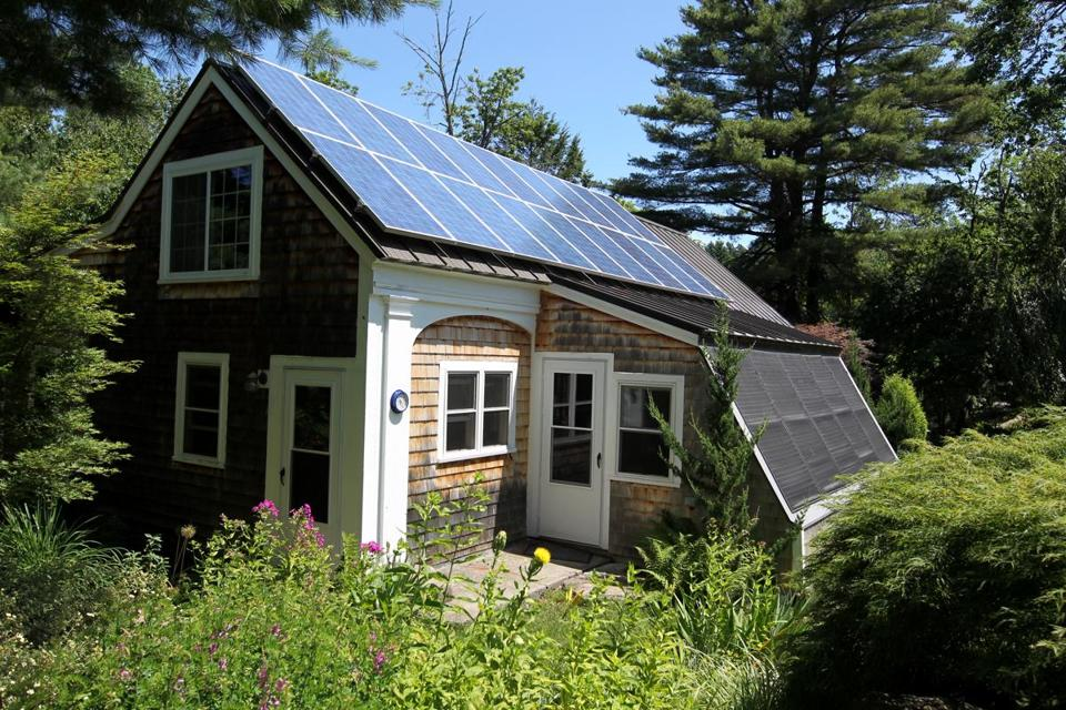 Evelyn Love and her husband, Dr. Bruce Karlin, had 18 photovoltaic panels installed on their home two years ago.