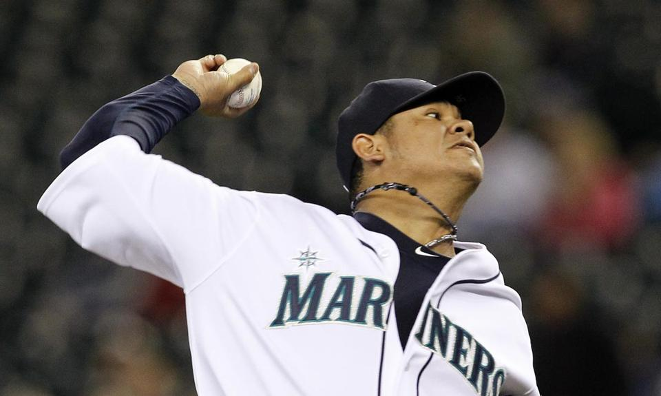Mariners pitcher Felix Hernandez shut down the Red Sox on Thursday.