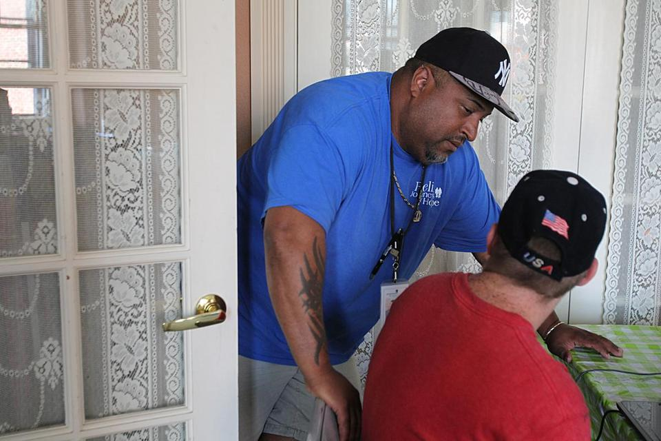 Case manager Felix Colon worked with a Journeys of Hope client in Salem.