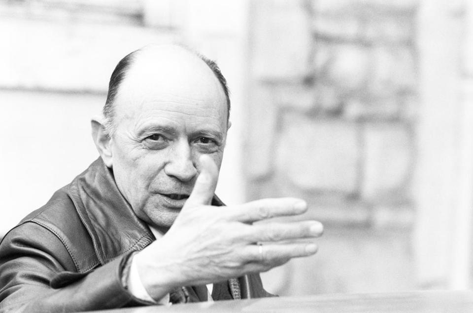 Jacques Ellul in 1982. He spent his career at the University of Bordeaux as a professor of law and economics.