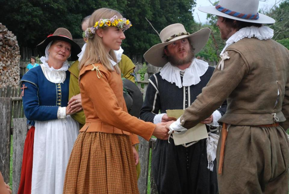 Historical interpreters in action at the Plymouth museum.