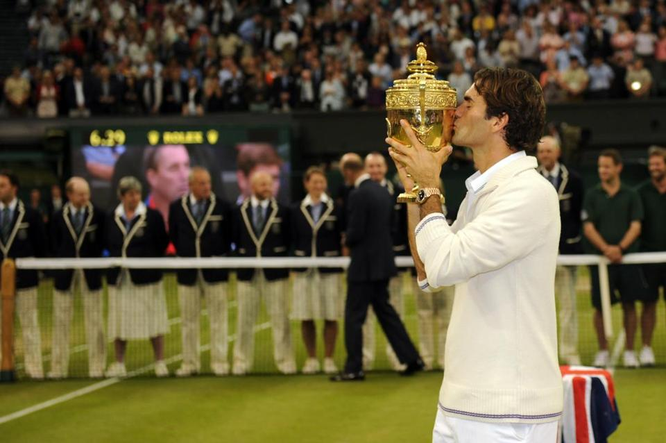 Roger Federer won his 17th major, seventh at Wimbledon.