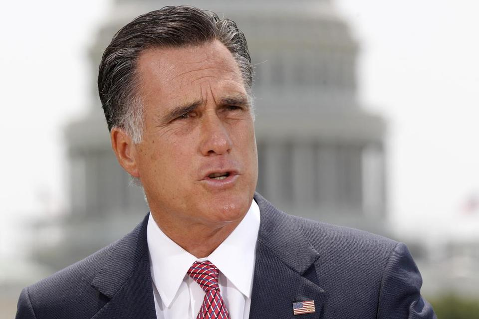 Republican presidential candidate Mitt Romney spoke in Washington, D.C. in June.