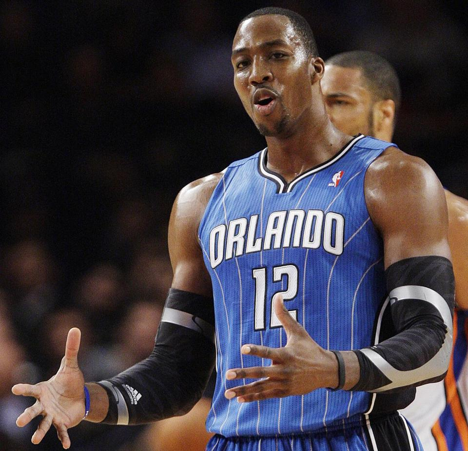 Orlando Magic center Dwight Howard during a game against the Knicks on March 28 in New York.