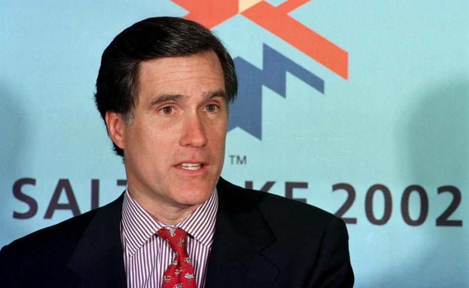 "On the day after Romney took over the Winter Olympics, the Boston Herald reported that ""Romney said he will stay on as a part-timer with Bain, providing input on investment and key personnel decisions."""