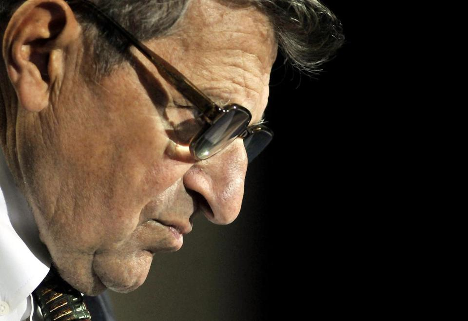 Joe Paterno was pictured in this Sept. 30, 2008 file photo.