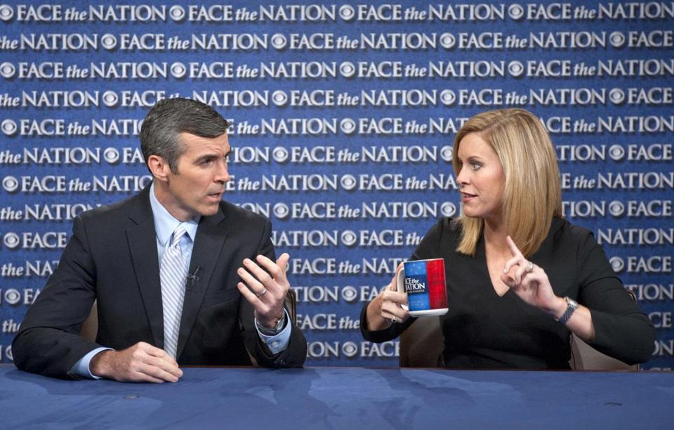 "Kevin Madden, senior adviser to the Romney campaign, and Stephanie Cutter, deputy campaign manager for President Obama, spoke on ""Face the Nation"" in Washington, D.C."