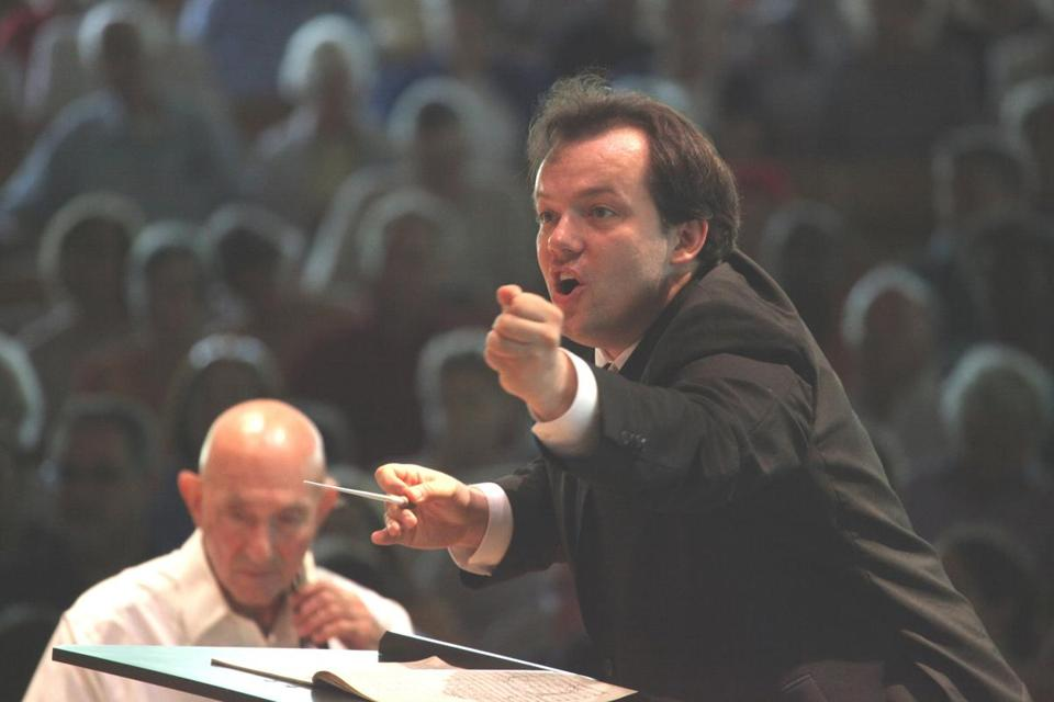 Andris Nelsons had to withdraw from conducting at Tanglewood on Saturday because of a severe concussion.