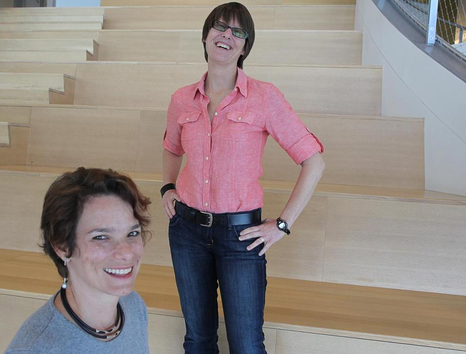 Nancy Baym (left) and Mary L. Gray are social media researchers at Microsoft Cambridge, becoming anthropologists of the digital age.