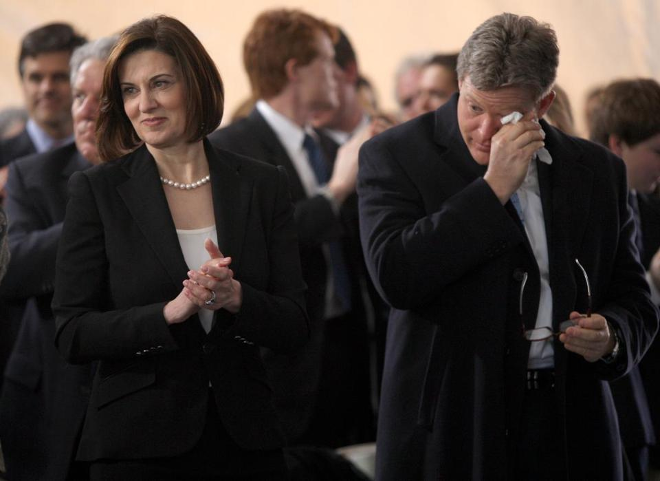Victoria Reggie Kennedy and Edward M. Kennedy Jr. at the 2011 inaugural ceremony for the institute.