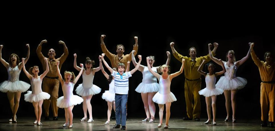 "Kylend Hetherington (Billy) and the cast of ""Billy Elliot the Musical."""