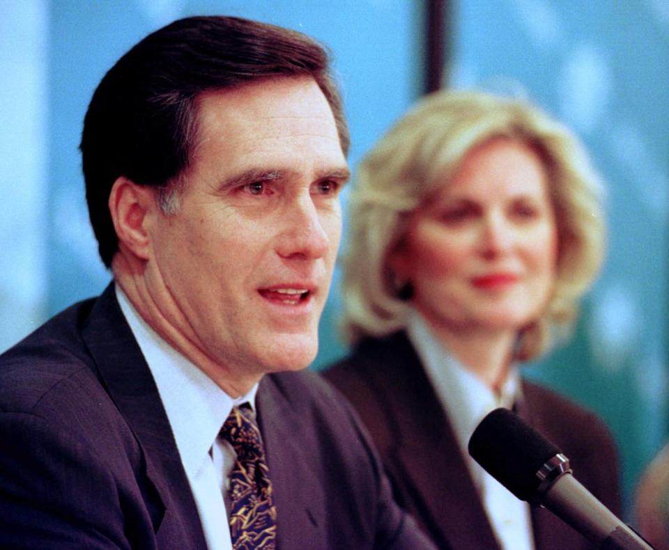 Mitt Romney, with his wife, Ann, promised transparency when he was put in charge of the scandal-plagued 2002 Winter Olympics in Salt Lake City.