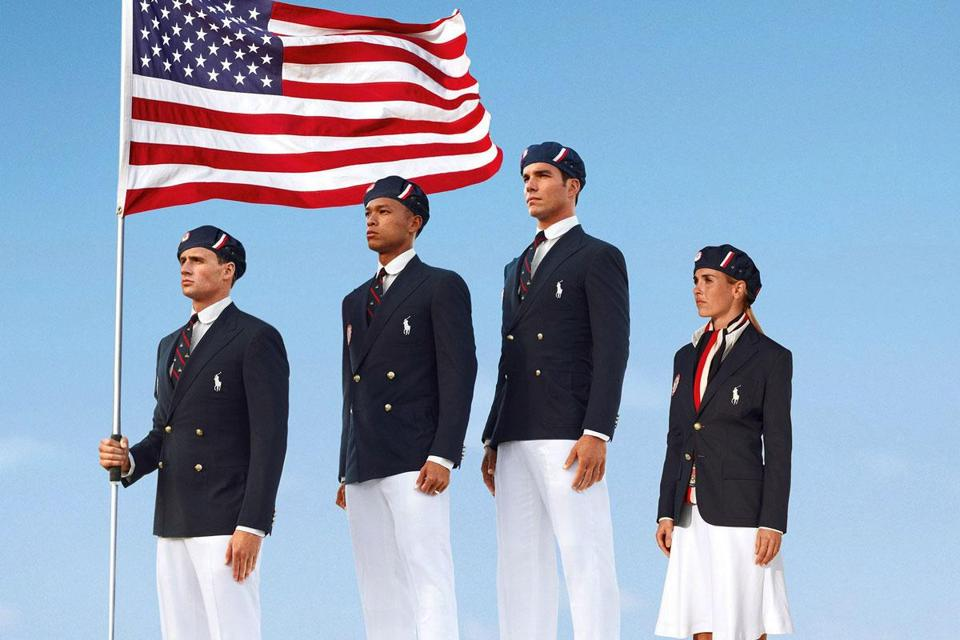 Ralph Lauren designed clothes for the American team.