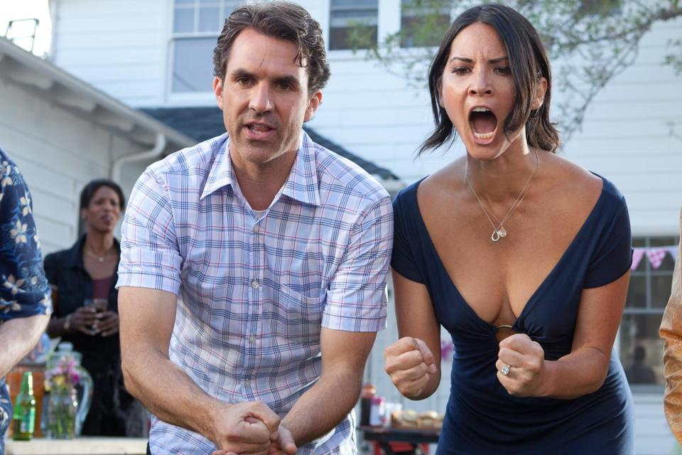 "Paul Schneider and Olivia Munn star in the comedy ""The Babymakers.''"