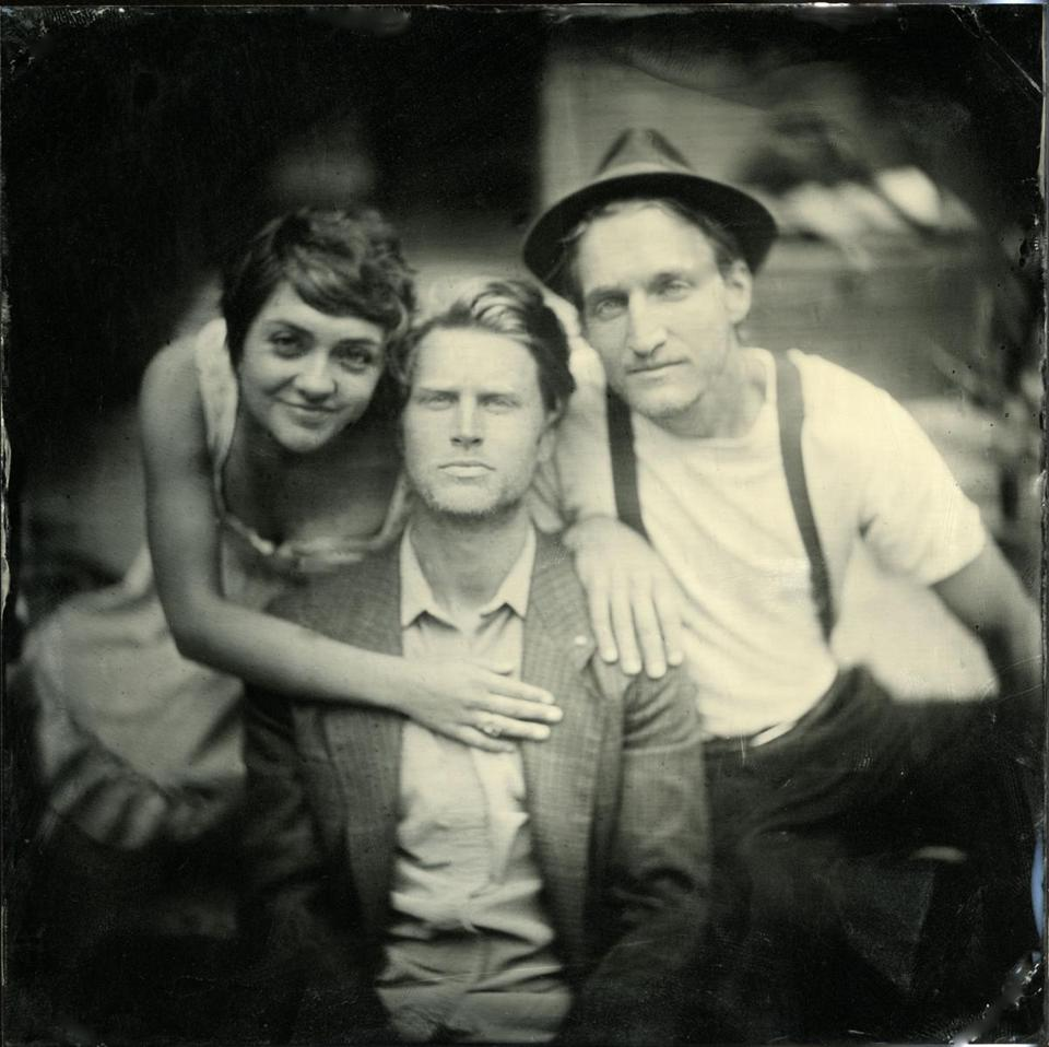 Lumineers founding members (from left) Neyla Pekarek, Wesley Schultz, Jeremiah Fraites.
