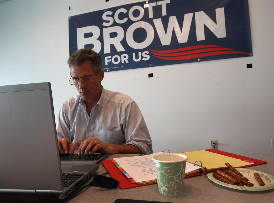 Senator Scott Brown answered queries during his live chat with participants on Boston.com Friday.