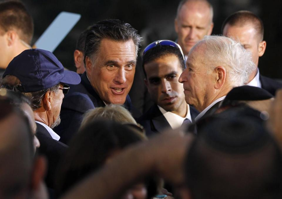 "Mitt Romney's event in Jerusalem was termed an Israeli ""love-fest.''"