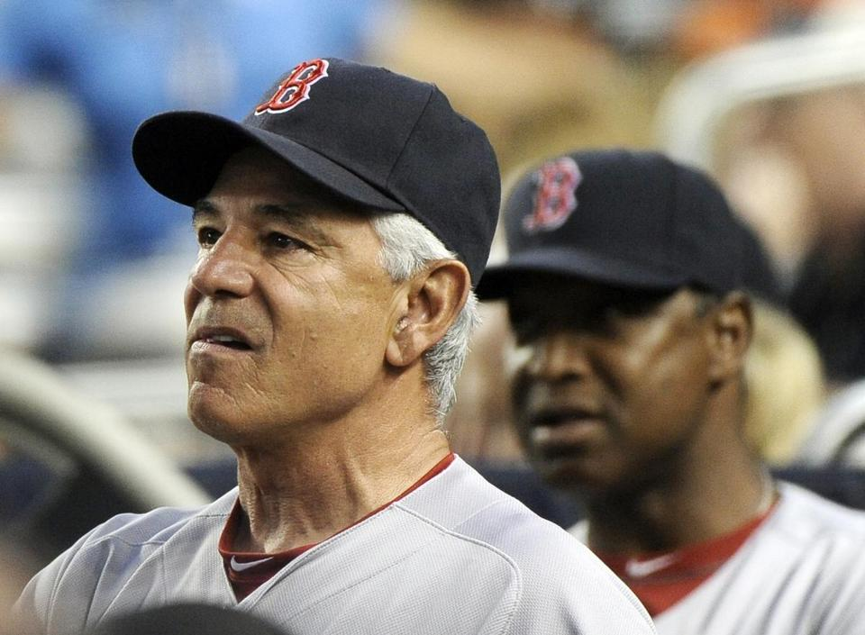 On Sunday, Terry Francona apologized to Red Soxmanager Bobby Valentine via text message.