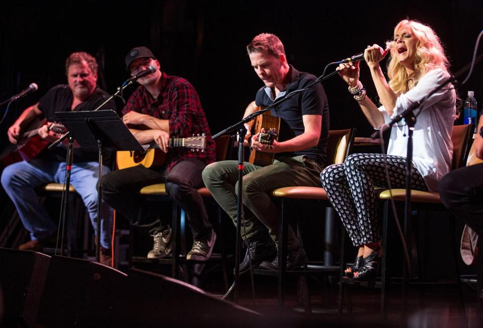 Carrie Underwood and a group of country-song hitmakers took turns performing and discussing songwriting at Royale on Tuesday.