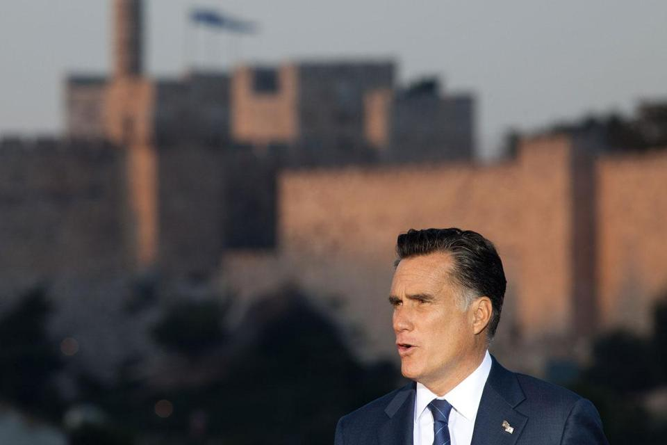 "In Jerusalem, Mitt Romney commented on how Israel is a ""pretty healthy nation"" while comparing health costs in that heavily regulated system with those in the United States."