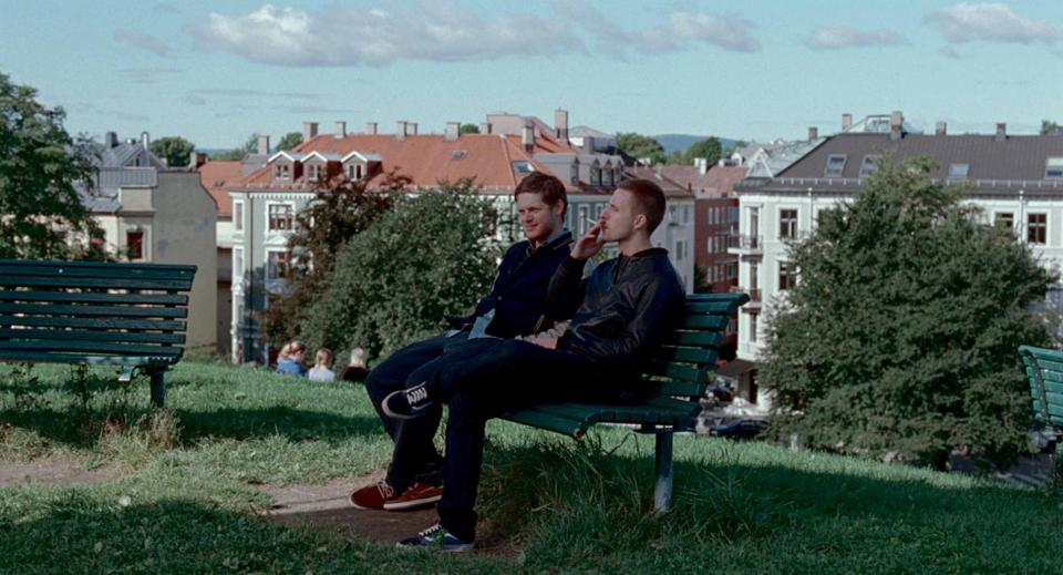 "Hans Olav Brenner (left) and Anders Danielsen Lie in ""Oslo, August 31st,"" directed by Joachim Trier."