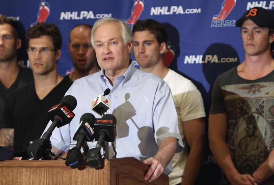 NHL Players Association executive director Donald Fehr.