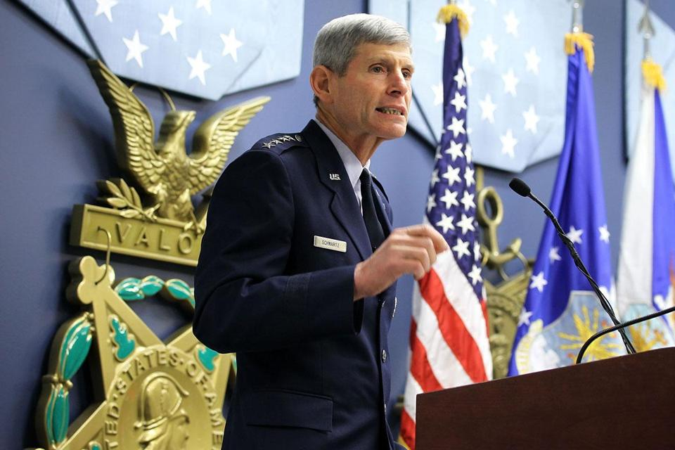 """We have more backup systems in terms of weapons systems than we actually have deployed,"" General Norton A. Schwartz, chief of staff of the Air Force, told the Globe in a recent interview. ""Some of that is a reasonable hedge [but] there is probably room for reductions.''"
