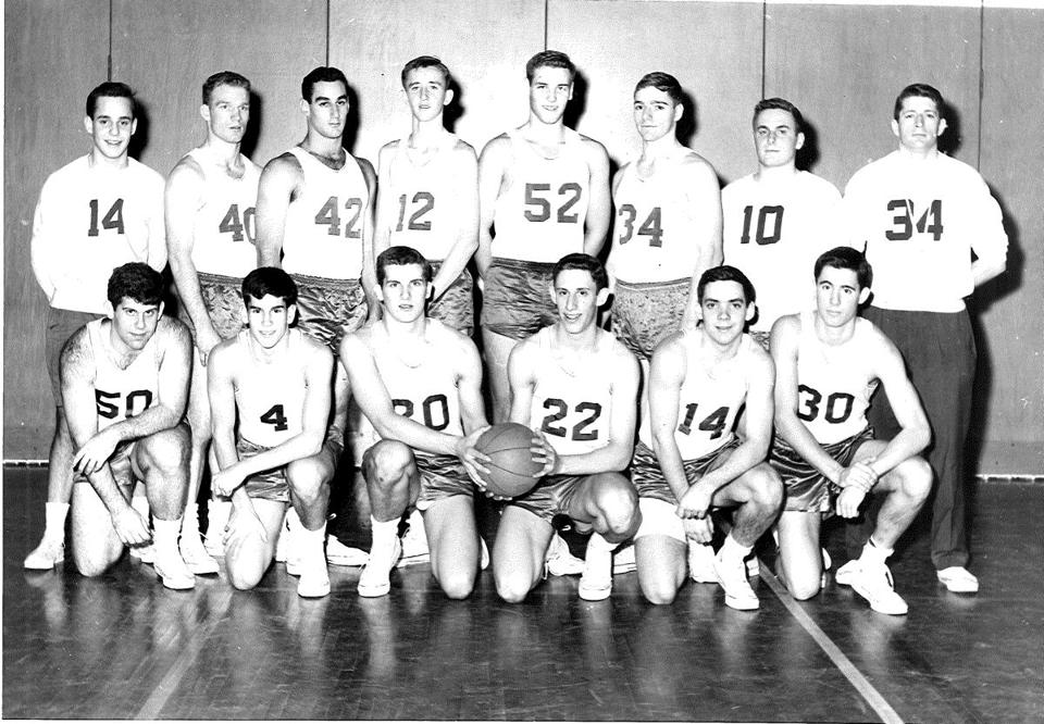 An archival photo shows the Brookline High team led into the 1963 playoffs by Don Slaven.