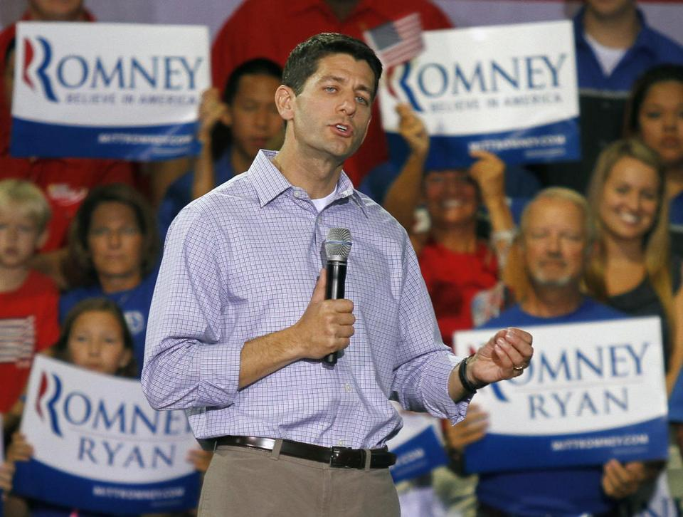 Paul Ryan, Mitt Romney's vice presidential running mate, addressed a GOP rally Sunday in Mooresville, N.C.