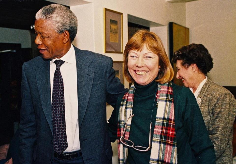 Ms. Holland, shown with Nelson Mandela, the former president of South Africa, wrote a book about South Africa's African National Congres
